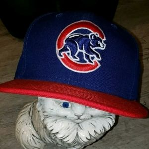 Chicago Cubs Red New Era Sz 7 3/8 Embroidered Hat